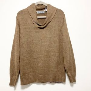 Oscar de la Renta Cotton Blend Sweater Size Small